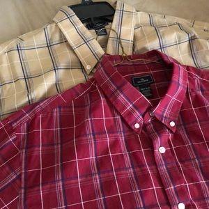 2 Dockers Short sleeved shirts